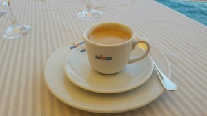 Cappuccino at Hotel Excelsior in Rapallo