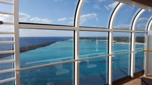 View from the ship of Disney's private islande Castaway Cay!