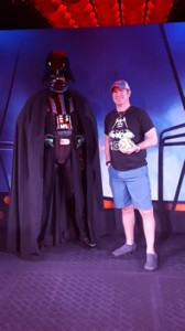 Tim gets to meet Darth Vader!