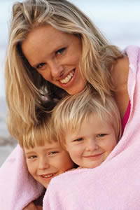 Mom and Two Kids Life Insurance